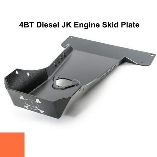 2007-2018 4BT Diesel Wrangler Engine Skid Plate - Punk'n Orange Gloss