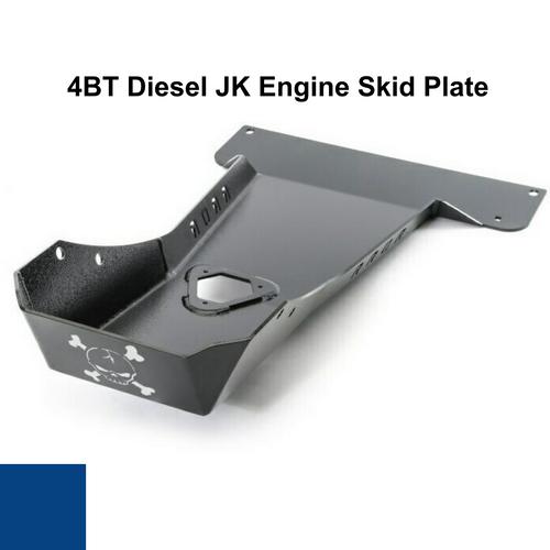 2007-2018 4BT Diesel Wrangler Engine Skid Plate - Ocean Blue Gloss