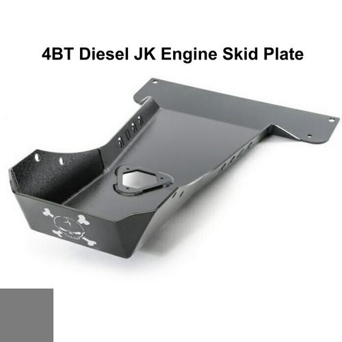 2007-2018 4BT Diesel Wrangler Engine Skid Plate - Sting Gray Gloss