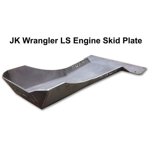2007-2018 LS Wrangler Engine Skid Plate - Bare Steel