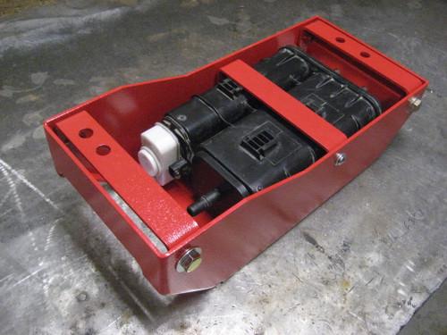2007-2018 Wrangler Evap Skid Plate - Firecracker Red Gloss