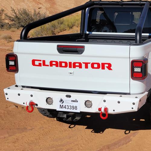 2019-Present JT Gladiator Tailgate Badging Kit - Red