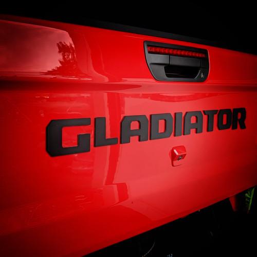 2019-Present JT Gladiator Tailgate Badging Kit - Black