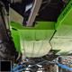 2018-Present 2-Door Wrangler Gas Tank Skid Plate - Black Texture