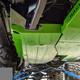 2018-Present 2-Door Wrangler Gas Tank Skid Plate - Sting Gray Gloss