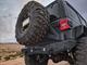 2018-Present Wrangler Predatör Series Rear Bumper w/ Tire Carrier - Granite Crystal Gloss