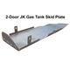 2007-2018 2-Door Wrangler Gas Tank Skid Plate - Bare Steel