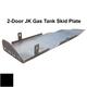 2007-2018 2-Door Wrangler Gas Tank Skid Plate - Black Gloss