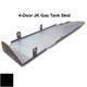2007-2018 4-Door Wrangler Gas Tank Skid Plate - Black Gloss