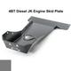2007-2018 Hemi 2-Door Wrangler - Complete Skid System - Sting Gray Gloss