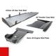 2007-2018 Hemi 4-Door Wrangler - Complete Skid System - Firecracker Red Gloss