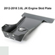2012-2018 3.6L Pentastar 4-Door Wrangler - Complete Skid Plate System - White Gloss