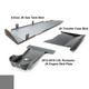 2012-2018 3.6L Pentastar 4-Door Wrangler - Complete Skid Plate System - Sting Gray Gloss