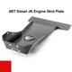 2007-2018 4BT Diesel 4-Door Wrangler - Complete Skid Plate System - Firecracker Red Gloss