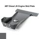 2007-2018 4BT Diesel 4-Door Wrangler - Complete Skid Plate System - Granite Crystal Gloss