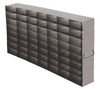 RFS2578A Argos Technologies Upright Freezer Rack for 25 Place Slide Boxes, Holds 56 Boxes, Stainless Steel (1 Rack)