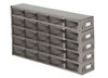 RDS2555A Argos Technologies Upright Freezer Drawer Rack for 25 Place Slide Boxes, Holds 25 Boxes, Stainless Steel (1 Rack)