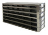 RDS2566A Argos Technologies Upright Freezer Drawer Rack for 25 Place Slide Boxes, Holds 36 Boxes, Stainless Steel (1 Rack)