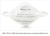 3M™ VFlex Healthcare Particulate Respirator and Surgical Mask 1804, N95, Case of 50