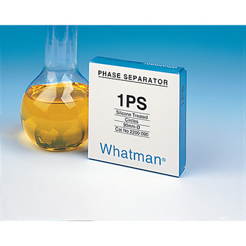2200-090 GE Healthcare Whatman 1PS Phase Separator Papers 1PS Phase Separator for Solvent Extraction, 90 mm circle (100 pcs) Package of  100