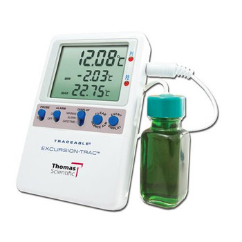 Thomas 6457 Traceable Excursion-Trac Datalogging Thermometers Traceable LN2 Excursion-Trac Datalogging Thermometer, 2 stainless steel probes  (Each of 1)