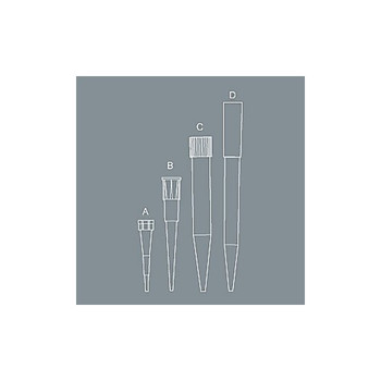 T-300-R-S Axygen 0.5-10µl Clear Pipet Tips for P2/P10 (Case of 4800)