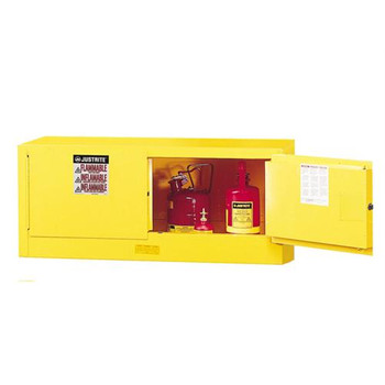 Justrite 891300 Sure-Grip EX Piggyback Flammable Safety Cabinets Sure-Grip EX Piggyback Flammable Safety Cabinet, Yellow, 12 gallons, 2 manual-close doors  (Each of 1)