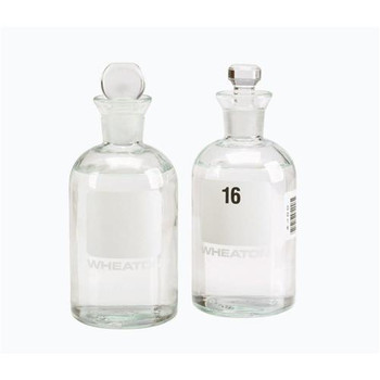 DWK Life Sciences (Wheaton) 227497-00G 300 mL BOD Bottles with Pennyhead Stoppers BOD Bottle, 300 ml, Penny-Head Stopper, Unnumbered  (Case of 24)