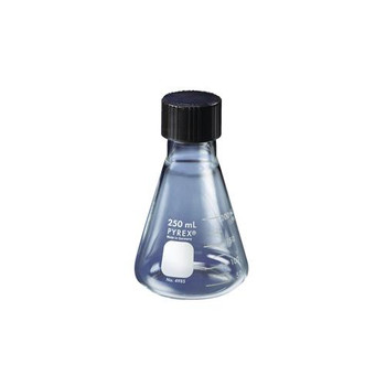 Corning 4985-50 PYREX Graduated Erlenmeyer Flasks With Screw Caps Flask, Erlenmeyer, Screw Cap, 50 ml  (Package of 12)