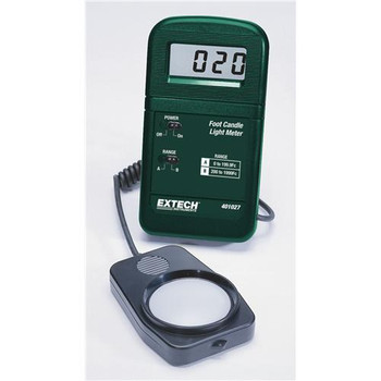 Extech 407026-NIST Pocket-Size Foot Candle Light Meter\n Heavy Duty Light Meter with PC Interface with NIST  (Each of 1)