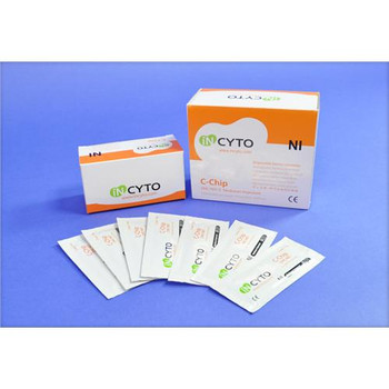 SKC Inc. DHC-N012 INCYTO Neubauer Improved C-Chip Hemocytometers  (Package of 20)