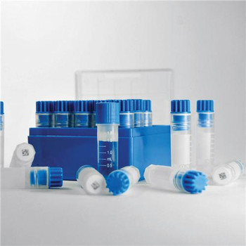 DWK Life Sciences (Wheaton) W985868 CryoELITE Cryogenic Storage Vials CryoELITE, 2mL, Free Standing, Sterile, Blue, Cap, Patch, external  (Case of 500)