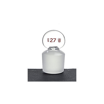 S280022 Kemtech America SYNTHWARE Flask-Length Glass Penny-Head Stoppers Penny-Head Stopper, Flask Length, Synthware, Joint: #22 Each of  1
