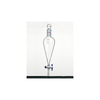F472250A Kemtech America SYNTHWARE Separatory Funnels with PTFE Stopcock Separatory Funnel, PTFE Stopcock, Glass Stopper, Capacity: 250mL, Stopper Joint: No. 22, Stopcock Bore: 4mm Each of  1