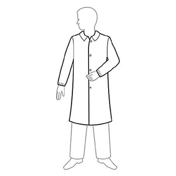 LC0-WE-NW-V-LRG-WHITE Keystone Safety Polypropylene Lab Coats with with No Pockets, Elastic Wrists & Snap Front Lab Coat, Polypropylene, No Pockets, Elastic Wrists, Velcro Front, Single Collar, White, LG Case of  30