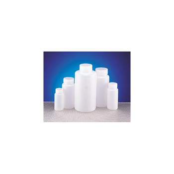 Dynalon 301605-0008 Round Wide Mouth Bottles Bottles HDPE Wide Mouth 8 Oz  (Package of 12)