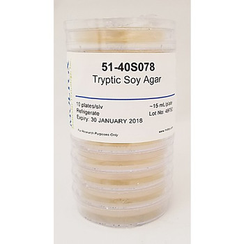21-40S54.141A Moltox Tryptic Soy Agar Plates Tryptic Soy Agar, 20mL/Plate, 20/sleeve Package of  20