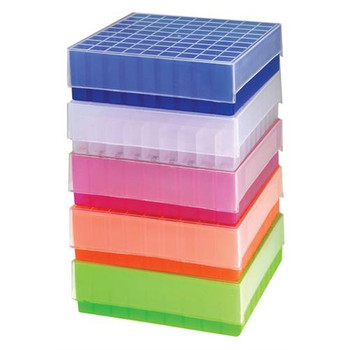 Argos Technologies R3118 81-Place Polypropylene Storage Boxes Cryobox Plastic 81 Place Blue Pk5  (Package of 5)