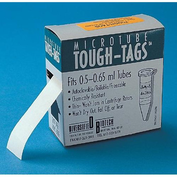 TTLR-1000 Diversified Biotech TOUGH-TAGS, Red, For 1.5 to 2.0 mL Tubes, Pk. 1,000 (Package of 1000)