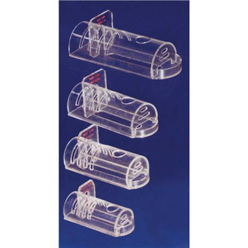 543-RR Plas-Labs Econo-Cage Animal Restrainers Rodent Retrainer, Flat Bottom, Large, 2.5 a???????? diam. x 6a??????, for animal range 125 to 250 g Each of  1