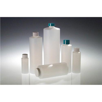 PLC-03417 Qorpak Natural HDPE Cylinder with White PP SturdeeSeala???? PE Foam Caps 8oz (240ml) Natural HDPE Wide Mouth Cylinder with 38-400 White PP SturdeeSeala???? PE Foam Lined Cap attached Case of  336