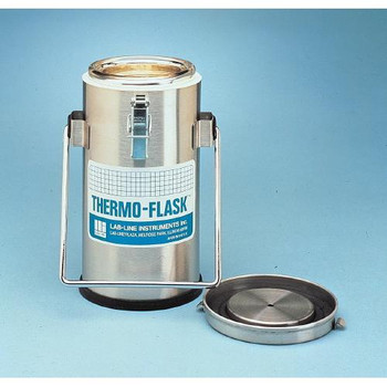 Barnstead 2122 Lab-Line Thermo-Flasks Thermo-Flask, Stainless Steel, 1 L  (Each of 1)
