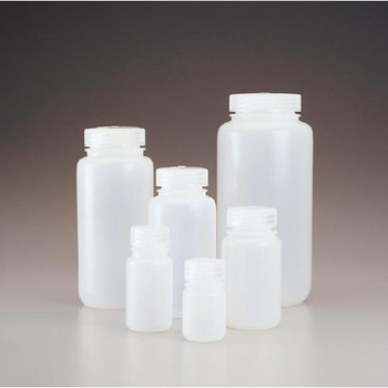 312189-0002 Thermo Scientific Nalgene Packaging Bottle, Wide Mouth - HDPE 2 oz / 60 ml 28-415 (Case of 1000)