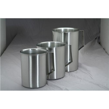3W Polarware Company Stainless Steel Beaker w / Lip&Handle 3000ml (Case of 4)