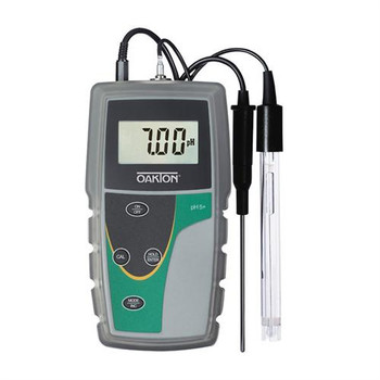 WD-35613-22 Oakton pH 6+ Meter with Single-Junction, Sealed, Epoxy-Body Electrode, ATC Probe, Rubber Boot, and Batteries (Each of 1)