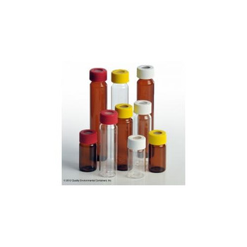 Quality Environmental Containers 3122-60ML Open Top VOA Vials Open Top VOA Vial, Amber, 60mL, 24-414 Cap, Level 3  (Case of 72)