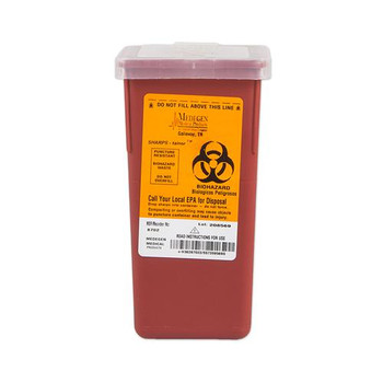 Medegen Medical Products MAI 8702 Stackable Sharps Containers Stackable Sharps Containers - Polypropylene, 1 Quart  (Case of 72)