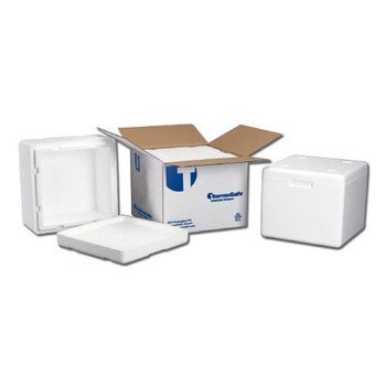 Thermosafe 613 Multi-Purpose Dry Ice Mailers Dome-Style Foam Container, 12 1/2 x 12 1/2 x 9 ID, 15 1/2 x 15 1/2 x 12 OD, 1 1/2 Wall  (Case of 4)