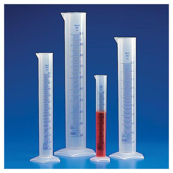 602561-1 Globe Scientific Graduated Cylinder - PP, Blue Printed Graduations (Each of 1)