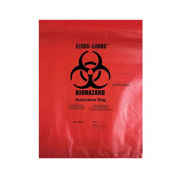 Action Health ACR24X30 Autoclave Bags, Red Autoclave Bag, Red, Polypropylene, 2 mil, 24x30\  (Case of 200)